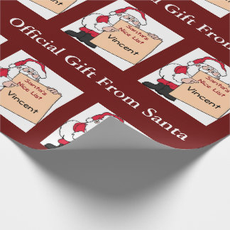 Personalized Santa's Nice List Wrapping Paper