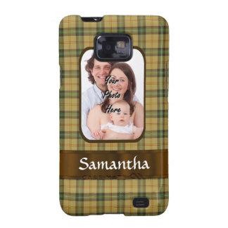 Personalized Saskatchewan tartan plaid Galaxy S2 Cases