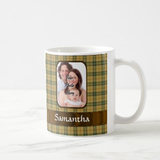 Personalized Saskatchewan tartan plaid Coffee Mug