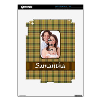 Personalized Saskatchewan tartan plaid Decals For iPad 2