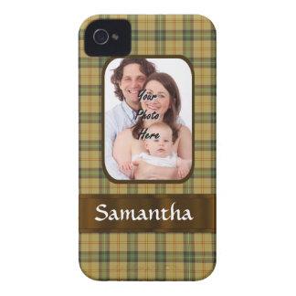 Personalized Saskatchewan tartan plaid iPhone 4 Case