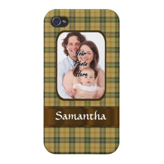 Personalized Saskatchewan tartan plaid iPhone 4 Cover