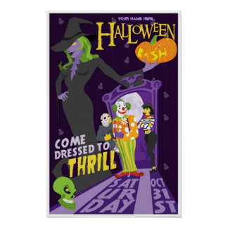Personalized Saturday Halloween party poster