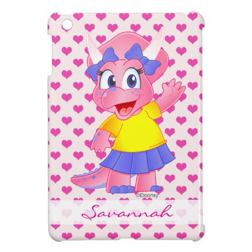 Personalized Savannah Dino iPad Mini Case (Pink)