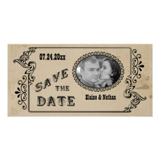 Personalized Save The Date Photo Reminder Card Photo Card Template