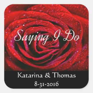 Personalized Saying I Do Wedding Stickers