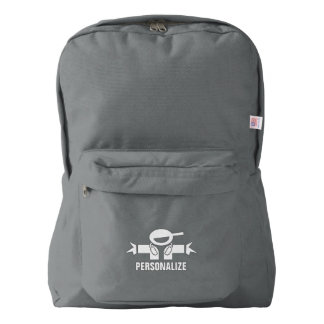 Personalized school backpack with music DJ logo