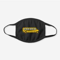 PERSONALIZED School Bus Graphic Black Cotton Face Mask