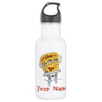 Personalized School Bus Water Bottle