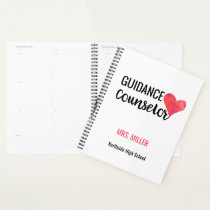 Personalized School Guidance Counselor Watercolor Planner