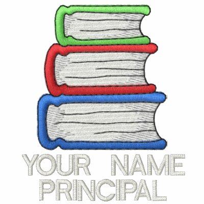 Personalized school principal long sleeve shirt for Custom embroidered polo shirts no minimum order