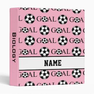Personalized School Soccer Binder in Pink