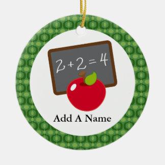 Personalized School Teacher Appreciation Gift Ceramic Ornament