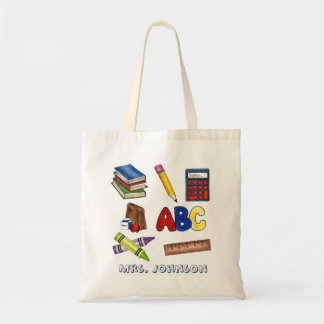 Personalized School Teacher Teaching Gift Tote Budget Tote Bag
