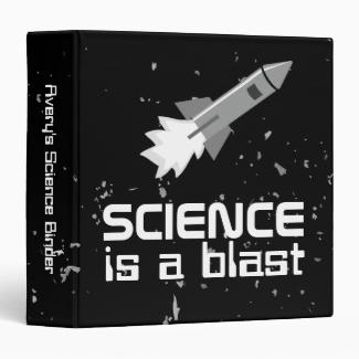 Personalized Science Binder Rocket Blast Template