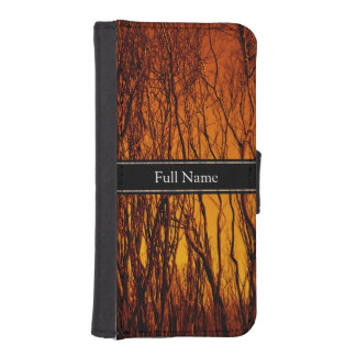 Personalized Scorched and Burning Tree Branches Phone Wallet Cases