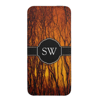 Personalized Scorched Branch iPhone 5S Phone Pouch