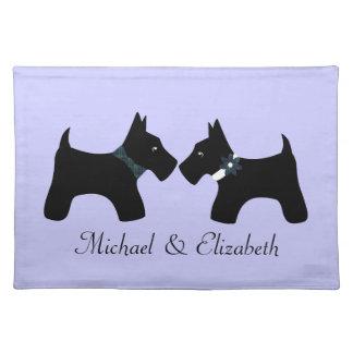 Personalized Scottie Dogs Couple Place Mats