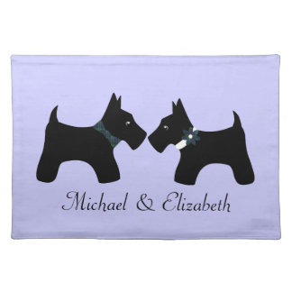 Personalized Scottie Dogs Couple Placemat