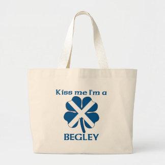 Personalized Scottish Kiss Me I'm Begley Canvas Bag