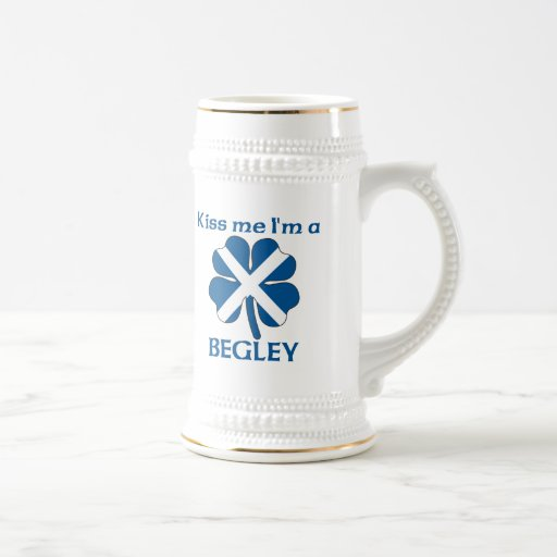 Personalized Scottish Kiss Me I'm Begley 18 Oz Beer Stein