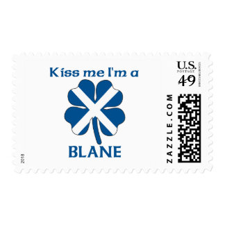 Personalized Scottish Kiss Me I'm Blane Postage Stamp