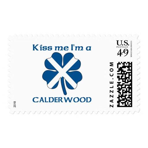 Personalized Scottish Kiss Me I'm Calderwood Postage Stamps