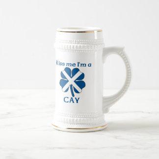Personalized Scottish Kiss Me I'm Cay Coffee Mugs