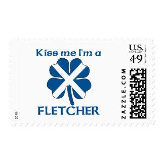 Personalized Scottish Kiss Me I'm Fletcher Postage Stamps