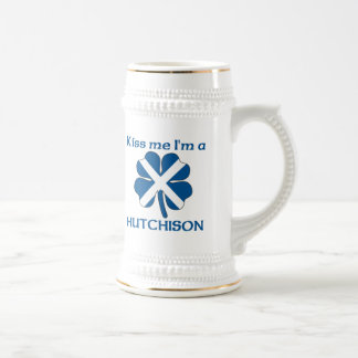 Personalized Scottish Kiss Me I'm Hutchison Beer Stein