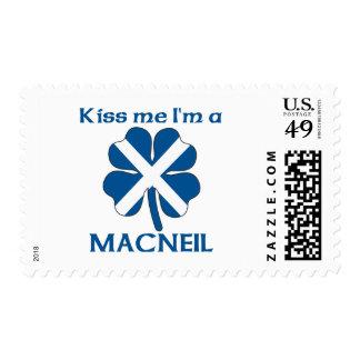 Personalized Scottish Kiss Me I'm Macneil Stamp