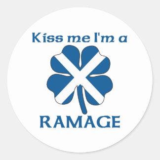 Personalized Scottish Kiss Me I'm Ramage Classic Round Sticker