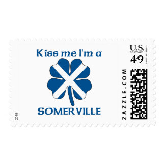 Personalized Scottish Kiss Me I'm Somerville Stamps