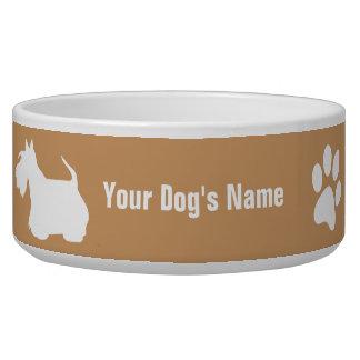 Personalized Scottish Terrier スコティッシュ・テリア Bowl