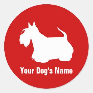 Personalized Scottish Terrier スコティッシュ・テリア Classic Round Sticker