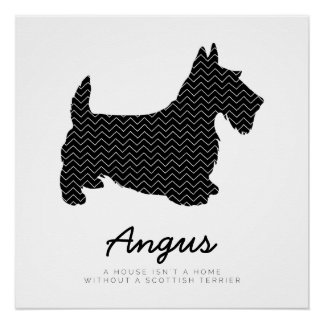Personalized Scottish Terrier Poster