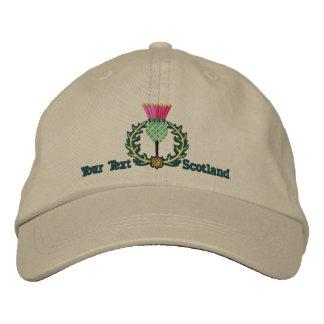 Personalized Scottish Thistle Scotland Spirit Embroidered Baseball Cap