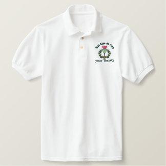 Personalized Scottish Thistle Scotland Spirit Embroidered Polo Shirt