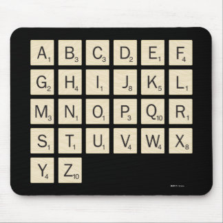 Personalized Scrabble Mouse Pad