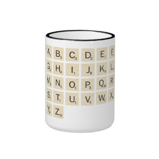 Personalized Scrabble Ringer Mug