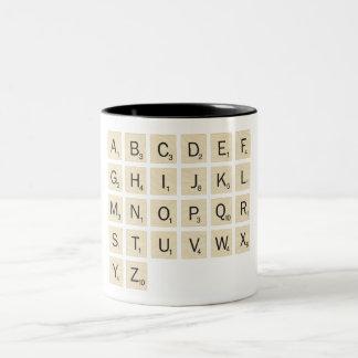 Personalized Scrabble Two-Tone Coffee Mug