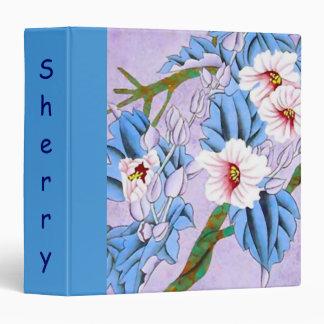 Personalized Scrapbook Album w Flower Motif Binder