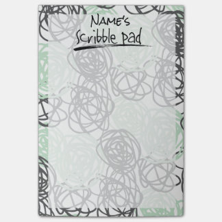 Personalized Scribble Pad (Mint/Charcoal) Post-it Notes