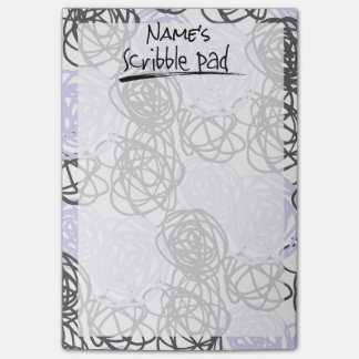 Personalized Scribble Pad (Purple/Charcoal) Post-it Notes