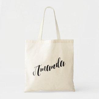 Personalized Script Tote Bag- Amanda