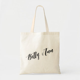 Personalized Script Tote Bag- Betty Ann