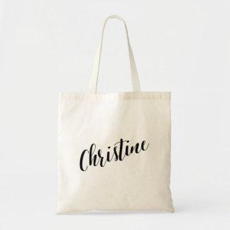 Personalized Script Tote Bag- Christine