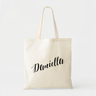 Personalized Script Tote Bag- Daniella
