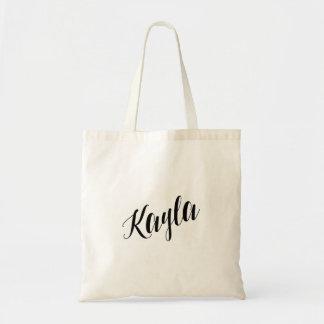 Personalized Script Tote Bag- Kayla