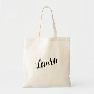 Personalized Script Tote Bag- Laura